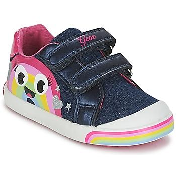 Schoenen Meisjes Lage sneakers Geox B KILWI G. C Jeans / Roze