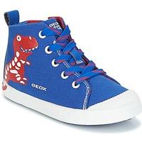 Schoenen Jongens Hoge sneakers Geox B KILWI B. F Blauw / Rood