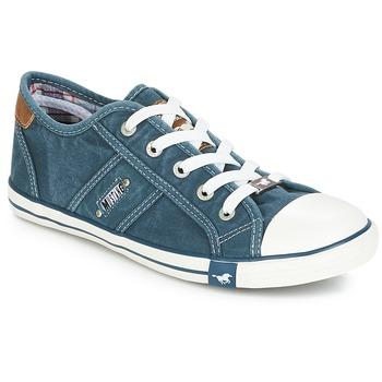 Schoenen Dames Lage sneakers Mustang RUGARL Blauw