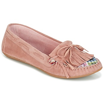 Schoenen Dames Mocassins Ippon Vintage MOC-WAX-ROSE Roze
