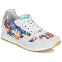 Schoenen Dames Lage sneakers Ippon Vintage RUN-SEVENTY Wit / Multi / Goud