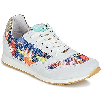 Schoenen Dames Lage sneakers Ippon Vintage RUN-SEVENTY Wit / Multicolour / Goud