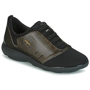 Schoenen Dames Lage sneakers Geox D NEBULA C Goud / Zwart