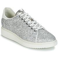 Schoenen Dames Lage sneakers Geox D THYMAR C Zilver / Wit