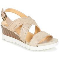 Schoenen Dames Sandalen / Open schoenen Geox MARYKARMEN P.B Goud / Beige