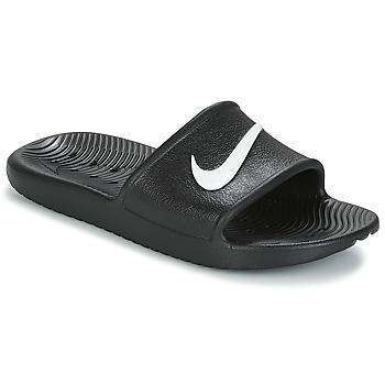 Schoenen Dames slippers Nike KAWA SHOWER SANDAL W Zwart / Wit