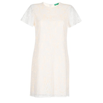 Textiel Dames Korte jurken Benetton PRISTOUC Wit