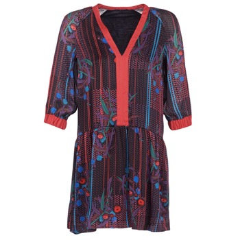 Textiel Dames Korte jurken Sisley CEPAME Zwart / Rood / Blauw