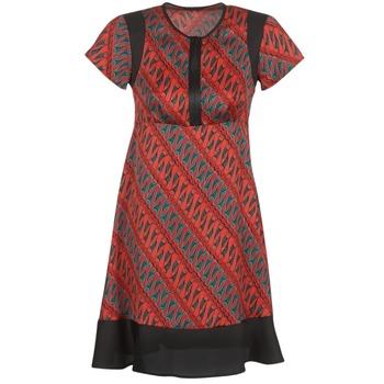 Textiel Dames Korte jurken Sisley ZEBRIOLO Rood / Zwart