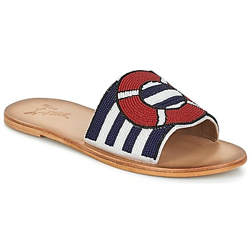 Schoenen Dames Leren slippers Miss L'Fire ALL ABOARD Marine