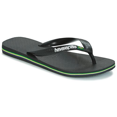 Schoenen Teenslippers Havaianas BRAZIL LOGO Zwart