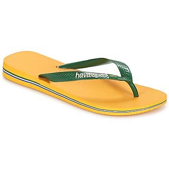 Schoenen Teenslippers Havaianas BRAZIL LOGO Geel