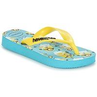 Schoenen Jongens Teenslippers Havaianas MINIONS Blauw / Geel