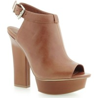 Schoenen Dames Enkellaarzen Guess Junita Spuntato Open Toe Leather