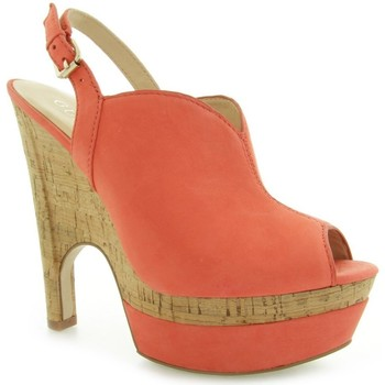 Schoenen Dames pumps Guess Jordane Zeppa Wedge Nubuck Red