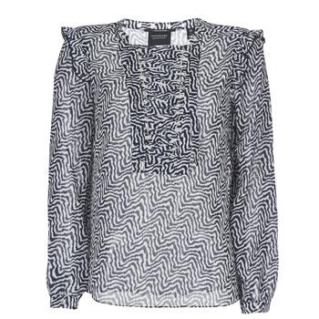 Textiel Dames Tops / Blousjes Maison Scotch OLZAKD Zwart / Wit