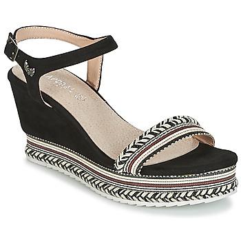 Schoenen Dames Sandalen / Open schoenen Kaporal SLYDE Zwart