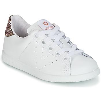 Schoenen Kinderen Lage sneakers Victoria DEPORTIVO BASKET PIEL KID Wit
