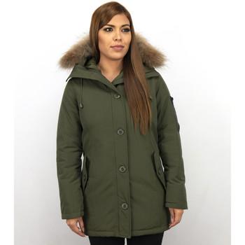 Textiel Dames Dons gevoerde jassen Thebrand Winterjassen - Dames Winterjas Canada Lang - Bontkraag - Parka 25