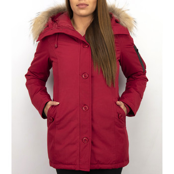 Textiel Dames Dons gevoerde jassen Thebrand Winterjassen - Dames Winterjas Canada Lang - Bontkraag - Parka 8