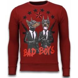 Textiel Heren T-shirts met lange mouwen Local Fanatic Bad Boys - Rhinestone Sweater Bordeaux