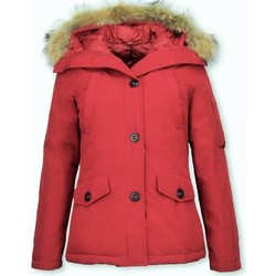 Textiel Dames Dons gevoerde jassen Thebrand Winterjassen Winterjas Canada Kort Bontkraag Rood