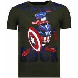 Textiel Heren T-shirts korte mouwen Local Fanatic Captain Duck - Rhinestone T-shirt 25