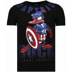 Textiel Heren T-shirts korte mouwen Local Fanatic Captain Duck - Rhinestone T-shirt 38