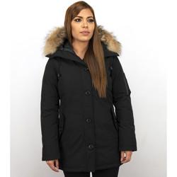 Textiel Dames Parka jassen Thebrand Winterjassen - Dames Winterjas Canada Lang - Bontkraag - Parka 38