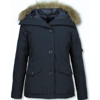 Textiel Dames Parka jassen Thebrand Korte Winterjas Bontkraag Blauw