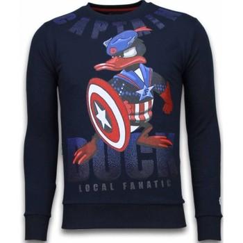 Textiel Heren Sweaters / Sweatshirts Local Fanatic Captain Duck - Rhinestone Sweater Blauw