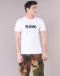 Textiel Heren T-shirts korte mouwen G-Star Raw HOLORN R T S/S Wit