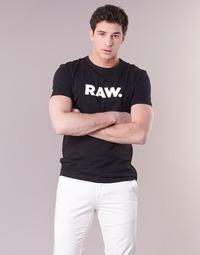 Textiel Heren T-shirts korte mouwen G-Star Raw HOLORN R T S/S Zwart