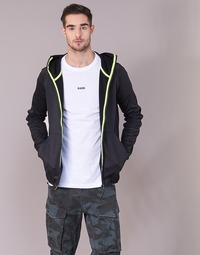 Textiel Heren Sweaters / Sweatshirts G-Star Raw STRETT SLIM HOODED ZIP THRU SW L/S Zwart