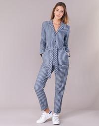 Textiel Dames Jumpsuites / Tuinbroeken G-Star Raw DELINE JUMPSUIT WMN L/S Blauw / Wit