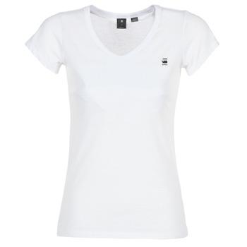 Textiel Dames T-shirts korte mouwen G-Star Raw EYBEN SLIM V T WMN S/S Wit