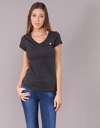 Textiel Dames T-shirts korte mouwen G-Star Raw EYBEN SLIM V T WMN S/S Zwart