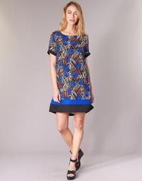 Textiel Dames Korte jurken Molly Bracken JUNCE Blauw