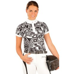 Textiel Dames T-shirts korte mouwen Litex For Riders > Lfr Dames wedstrijd t-shirt Christina Wit