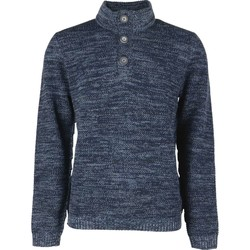 Textiel Heren Truien No Excess Pullover half zip collar 3 night Blauw