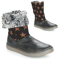 Schoenen Meisjes Hoge laarzen Achile DUBROVNIK Zwart / Koper