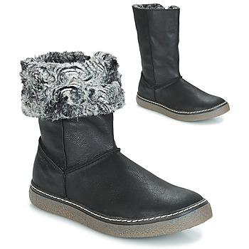 Schoenen Meisjes Hoge laarzen GBB DUBROVNIK Nub / Zwart / Dpf / Glen