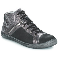 Schoenen Meisjes Hoge laarzen GBB KAMI Vts / Zwart-zilver / Dpf / Basket