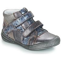 Schoenen Meisjes Laarzen GBB ROXANE Vnv / Grijs /  bleu-imprime / Dpf / Sabina