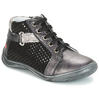Schoenen Meisjes Laarzen GBB RICHARDINE Grijs / Zwart