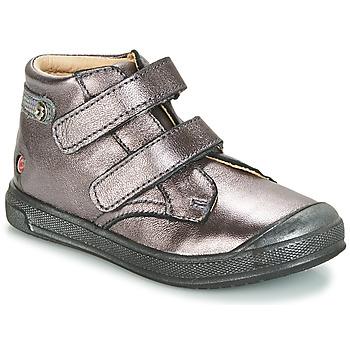 Schoenen Meisjes Hoge sneakers GBB RACHEL Violet / Metaal