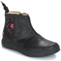 Schoenen Meisjes Hoge laarzen GBB ROMANE Vte / Zwart / Dpf / Edit