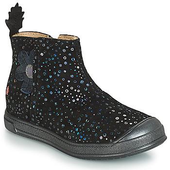 Schoenen Meisjes Laarzen GBB ROMANE Zwart