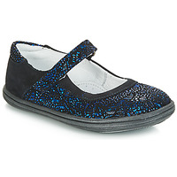 Schoenen Meisjes Ballerina's GBB PLACIDA Blauw / Zwart