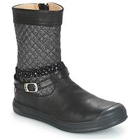 Schoenen Meisjes Hoge laarzen GBB ROLANDE Vts / Zwart / Dpf / Edit